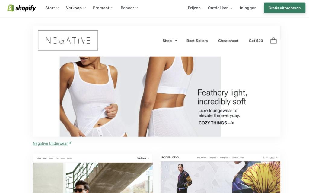 Shopify webshop kleding